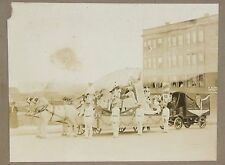 Photo Horse Drawn Parade Float & Delivery Truck  Imperial Candy Co Seattle c1910