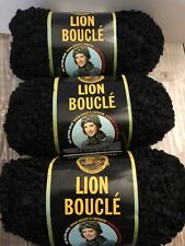 Brand New - Lion Brand Yarn Lion Boucle Espresso 2.5oz/57 yds, Same Dye Lot