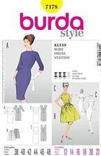 Burda Sewing Pattern 7178  Misses Vintage Style Dresses & Skirt