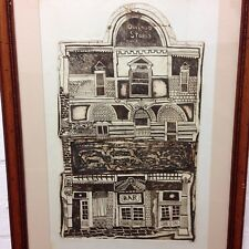 Vintage Etching Of Dockhead Stores , Bermondsey London Unsigned