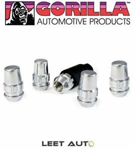 (5) Gorilla Wheel Locks, Chrome, 12mm x 1.50, Bulge Acorn, 12x1.5 71631NB5