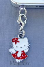 Hello Kitty Red Angel cell phone Charm Anti Dust proof Plug ear cap jack C198
