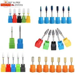 3/32'' Ceramic Carbide Nail Art Electric Rotary File Drill Bits Head Manicure