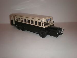 1/43 city bus 1938 MERCEDES BENZ  O.10000 black/ivory handmade by Vector-Models