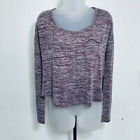 Hollister Oversized Top Size XS Crop Trendy Teens Long Sleeve V-Neck Red