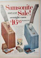 Lot of 3 Vintage Samsonite Print Advertisements Silhouette Streamlite Luggage
