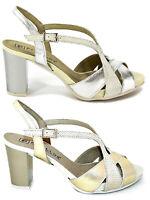 PITILLOS 5101 scarpe donna sandali tacco alto decollete pelle lucidia camoscio
