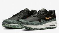 NIKE AIR MAX 1 GOLF NRG 'PAYDAY' - UK 8.5 & 10 - BLACK/GREEN/GOLD (BQ4804-001)