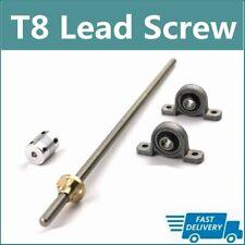 T8 Lead Screw Set Lead 28mm Coupling Mounting Bearing 100mm1200mm 3d Printer