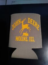 John Deere Beer Can Bottle Koozie x2 Can Cooler Coozie Can Hugger Soft Drink x2