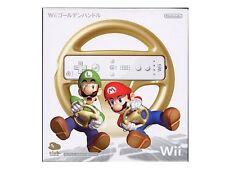Club Nintendo Mario Kart Golden Steering Wheel Wii Gold Handle JP (Handle only)