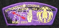 BSA OCCONEECHEE COUNCIL & LODGE 104 OA 100TH CENTENNIAL FLAP NOAC 2015 RARE CSP