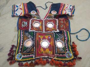 Vintage Banjara Tribal Kuchi Hand span Emb Indian Traditional back Less Choli