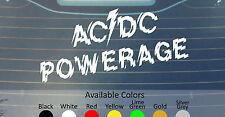 AC DC POWERAGE VINYL DECAL STICKER CUSTOM SIZE/COLOR JUDAS PRIEST BLACK SABBATH