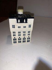 Bols Blue Delft Ceramic Dutch house KLM #95 sealed