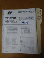 Sansui cd-x311 317 Service Manual Original Repair Book Stereo