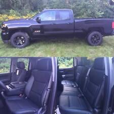 2014 2018 Chevrolet Silverado Lt Double Cab Katzkin Black Leather Seat Covers