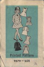 vintage 70s Marian Martin girls dress pattern uncut original mailer sz 8 short