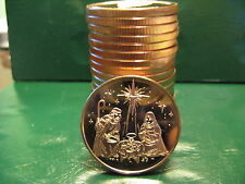 20 Christmas Rounds - NATIVITY 1 oz .999 Copper Christmas TREE Back-Beautiful