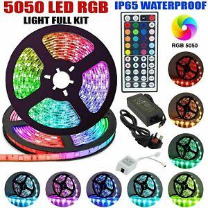 Led Strip Lights RGB 5050 RGB Colour Change Remote Control Lights Home Flexible