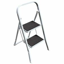 2 Step Ladder Safety Non Slip Mat Tread Foldable Kitchen Stool By Home Discount