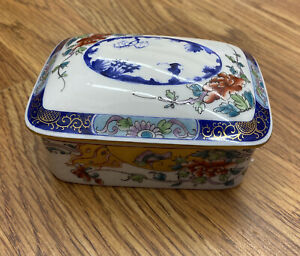 Tiffany & Co Le Tallec Private Stock Porcelain Trinket Dresser Box Hand Painted