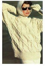 Ladies Aran jumper knitting pattern experienced knitters. Sweater, Pullover.