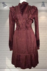 Vintage 1980s Brocade & Velvet Edwardian Governess Style High Neck Dress PHOOL M