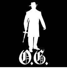 O.G. Mobster Original Gangster Car Truck Window Wall Laptop Vinyl Decal Sticker.