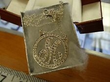 SILVER INITIALS 925 CUBIC ZIRCONIAS HAND CRAFTED ABCDEFG-------