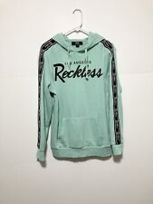 Young and Reckless Mens Hoodie | Size L | Cyan Blue | Los Angelas