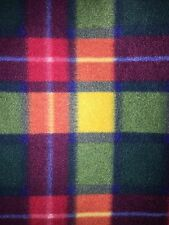 Buchanan Tartan Multi Polar Fleece Anti Pill Washable Soft Fabric PF GRNOR