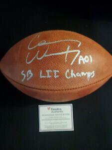 Eagles Carson Wentz Signed Wilson Super Bowl LII Duke Football Auto Fanatics