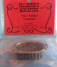 vtg SHACKMAN MINIATURE DOLLHOUSE cast metal trinket container casserole 1:12 nip