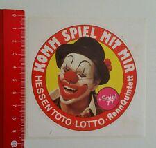 ADESIVI/Sticker: Assia TOTO LOTTO rennquintett + gioco 77 (050616116)