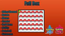 30 Custom Pokémon Shiny 6IV-EV Pokémon Sword and Shield