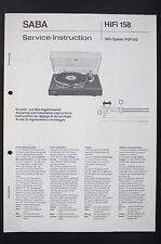 SABA HIFI Spieler PSP 910 Service-Instruction/Manual/Diagram/Schaltplan o87
