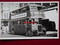 PHOTO  LONDON TRANSPORT BUS NO RTW42 2/5/53