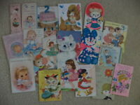 LOT OF VINTAGE  BIRTHDAY CARDS