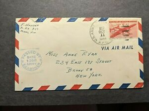 APO 857 ATKINSON, GEORGETOWN, BRITISH GUIANA 1944 Censored WWII Army Cover
