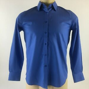 NWT Jones New York Signature Casual Shirt Button Down Blue Collared Solid Mens S