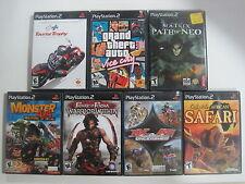 PlayStation 2 Lot 7 Games Matrix Path of Neo, GTA Vice City, Cabela + PS2 (LOT3)