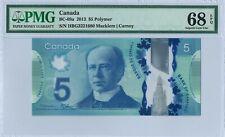 Canada 5 Dollars BC-69a 2013 PMG 68 EPQ 1st prefix s/n HBG3221680 Polymer