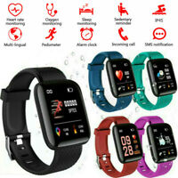 Bluetooth Smart Watch Heart Rate Monitor Blood Pressure Sport Fitness Tracker