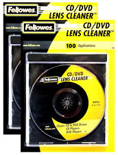 2x Fellowes CD Lens Cleaner DVD Disc Drive Xbox One Wii PS4 Micro-Thin Fibers
