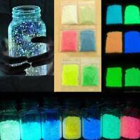 Glow Kies leuchtende romantische Sand Aquarium fluoreszierende Neu Partikel K8T2