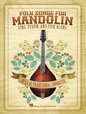 Folk Songs for Mandolin Sheet Music Sing Strum and Pick Along Mandolin 000701918