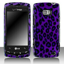 Purple Leopard Hard Case Snap on Cover LG Ally VS740