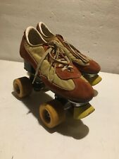Vintage 70's Roller Derby Skates Brown Tennis shoes Small