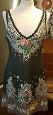 Michal Negrin Long Top /Dress /Tunic  ~  Decorated with Crystals -Sz.L